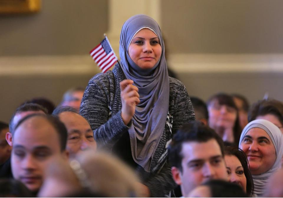Rana Zerzaba from Iraq stood as the judge acknowledged her.
